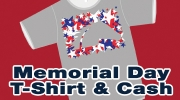 Memorial Day T-Shirt and Cash